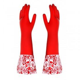 Paclan gumikesztyű hosszú piros 1 pár